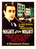 Night after Night, George Raft on Midget Window Card, 1932 Prints