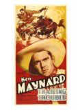Trailing Trouble, Ken Maynard, 1937 Photo