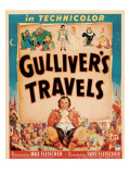 Gulliver&#39;s Travels, Window Card, 1939 Prints