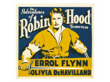 The Adventures of Robin Hood, Errol Flynn on Jumbo Window Card, 1938 Photo