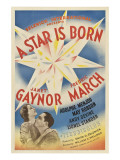 A Star Is Born, Janet Gaynor, Fredric March, 1937 Póster