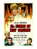 The Flame of New Orleans, Marlene Dietrich, Roland Young, 1941 Posters