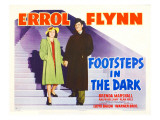 Footsteps in the Dark, Brenda Marshall, Errol Flynn, 1941 Affiches