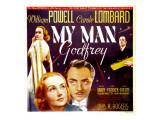 My Man Godfrey, Carole Lombard, William Powell on Jumbo Window Card, 1936 Photographie