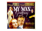 My Man Godfrey, Carole Lombard, William Powell on Jumbo Window Card, 1936 Photo