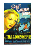 The Trail of the Lonesome Pine, Sylvia Sidney, Fred Macmurray, Henry Fonda, 1936 Poster