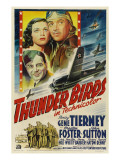 Thunder Birds, Clockwise from Left: Gene Tierney, Preston Foster, John Sutton, 1942 Posters