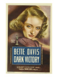 Dark Victory, Bette Davis on Midget Window Card, 1939 Photo