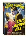 This Above All, Joan Fontaine, Tyrone Power, 1942 Plakater