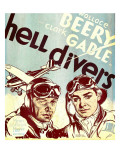 Hell Divers, Wallace Beery, Clark Gable on Window Card, 1932 Posters