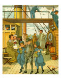 Crossing the channel from Folkestone to France Giclee Print by Thomas Crane