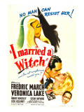 I Married a Witch, Fredric March, Veronica Lake, Robert Benchley, 1942 Plakát