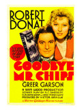 Goodbye, Mr. Chips, Robert Donat, Greer Garson on Midget Window Card, 1939 Photo