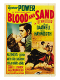 Blood and Sand, Linda Darnell, Tyrone Power on Midget Window Card, 1941 Photo