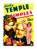 Dimples, Shirley Temple, Frank Morgan, Shirley Temple on Midget Window Card, 1936 Plakater