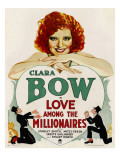 Love Among the Millionaires, Clara Bow on Window Card, 1930 Photo