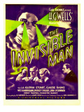 """The Invisible Man"", Claude Rains, Henry Travers, Gloria Stuart, William Harrigan on Window Card Láminas"