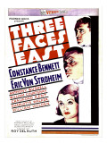 Three Faces East, 1930 Posters