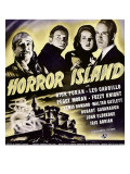 Horror Island, Leo Carrillo, Fuzzy Knight, Peggy Moran, Dick Foran on Window Card, 1941 Photo