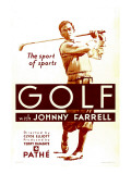 Golf, Johnny Farrell, 1930 Posters