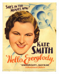 Hello, Everybody!, Kate Smith on Midget Window Card, 1933 Photo