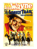 The Lonely Trail, John Wayne, 1936 Print