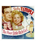 Poor Little Rich Girl, Michael Whalen, Shirley Temple, Jack Haley, Alice Faye, 1936 Poster