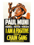 I Am a Fugitive from a Chain Gang, Paul Muni, 1932 Prints
