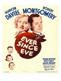Ever Since Eve, Marion Davies, Robert Montgomery, 1937 Posters