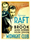 Midnight Club, Clive Brook, George Raft, 1933 Photo