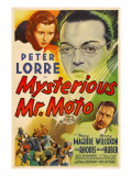 Mysterious Mr. Moto, Mary Maguire, Peter Lorre, Leon Ames, 1938 Prints