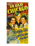 In Old Chicago, Tyrone Power, Alice Faye, Don Ameche, 1937 Poster
