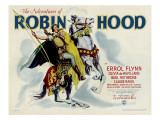 The Adventures of Robin Hood, Errol Flynn, Olivia Dehavilland, 1938 Poster