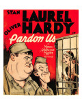 Pardon Us, Oliver Hardy, Stan Laurel on Window Card, 1931 Photo