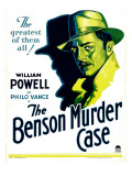 Benson Murder Case, William Powell on Window Card, 1930 Plakater