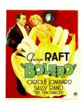 Bolero, George Raft, Carole Lombard on Window Card, 1934 Affiches