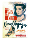 Now, Voyager, Bette Davis, Bette Davis, Paul Henreid on Midget Window Card, 1942 Poster