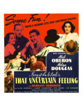 That Uncertain Feeling, Merle Oberon, Melvyn Douglas, 1941 Posters