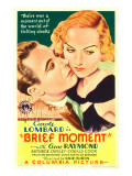 Brief Moment, Gene Raymond, Carole Lombard on Midget Window Card, 1933 Posters