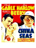 China Seas, Clark Gable, Jean Harlow, Wallace Beery on Window Card, 1935 Pósters
