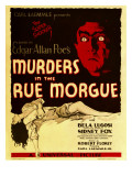 Murders in the Rue Morgue, Bela Lugosi on Window Card, 1932 Prints