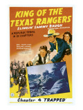 King of Texas Rangers, Top from Center: Sammy Baugh, Pauline Moore in 'Chapter 4: Trapped', 1941 Print