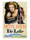 The Letter, Bette Davis on Midget Window Card, 1941 Posters