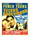 Second Honeymoon, Loretta Young, Tyrone Power, Loretta Young, Tyrone Power on Window Card, 1937 Prints