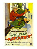 Phantom of the West, Tom Tyler, 1931, Chapter 6: the Canyon of Calamity Print