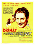Ghost Goes West, Jean Parker, Robert Donat on Window Card, 1935 Posters