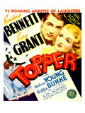 Topper, Cary Grant, Constance Bennett on Window Card, 1937 Photo