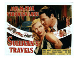 Sullivan's Travels, Veronica Lake, Joel Mccrea, 1941 Kunstdruck