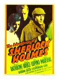 The Adventures of Sherlock Holmes, Ida Lupino, Alan Marshal, Basil Rathbone, 1939 Posters