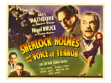 Sherlock Holmes and the Voice of Terror, Thomas Gomez, Reginald Denny, 1942 Plakater